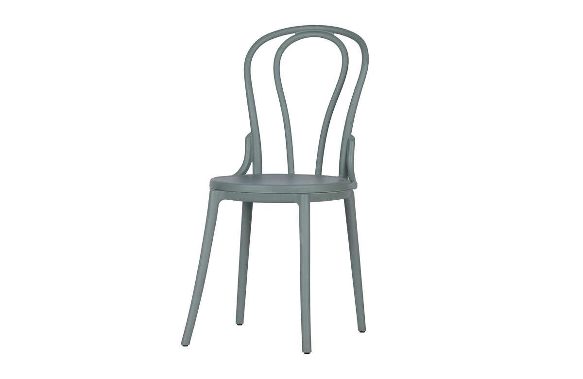 Zestaw 2 Krzeseł Bibi Bistro Plastikowe Zielone Sklep Bm